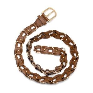 Michael Kors Women's Braided Leather Belt